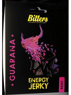 Bitters Energy Jerky Beef guarana
