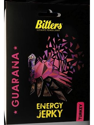 Bitters Energy Jerky Turkey guarana