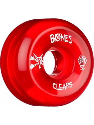 Kolečka Bones SPF Skatepark clear red 54mm P5