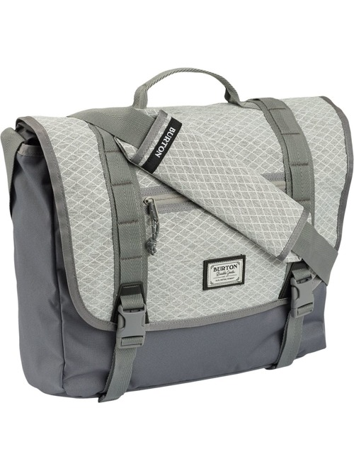Taška Burton Flint Messenger grey heather diamond ripstop z kategorie Batohy s kapsou na notebook.