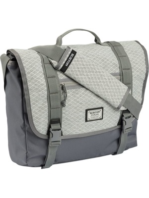 Taška Burton Flint Messenger grey heather diamond ripstop