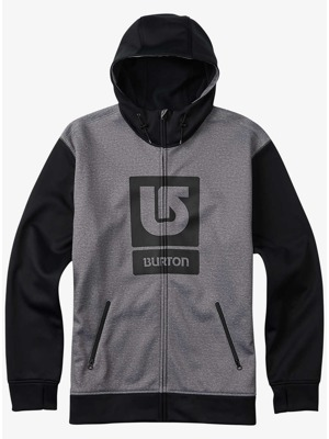 Pánská bunda Burton Bonded Fz monument heather/ true black