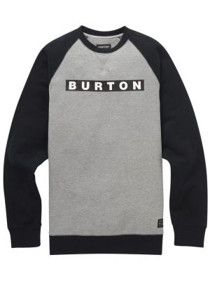 Mikina Burton Vault Crew Gray Heather