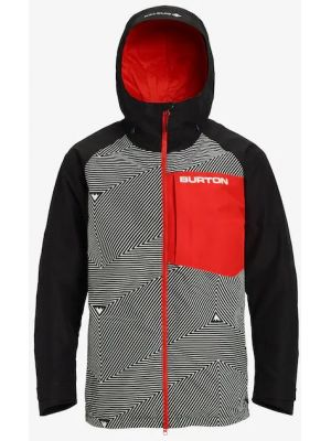 Bunda Burton Gore-Tex Radial Slim spun out true black flame scarlet