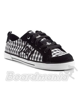 Boty DC Fiona black/white/plaid