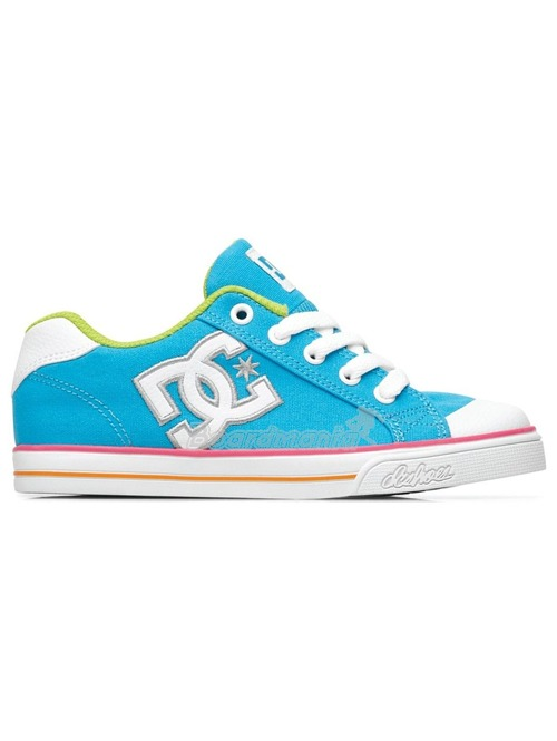 Dětské boty DC Chelsea Canvas turquoise white. zoom in 13e4cfd6be