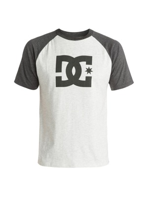 Pánské tričko DC Star Raglan light heather grey