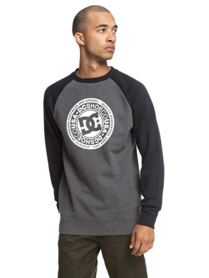 Mikina DC Circle Star crew raglan black/charcoal heather