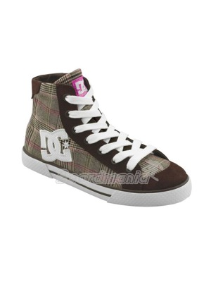 Boty DC Chelsea MID womens dark chocolate/plaid