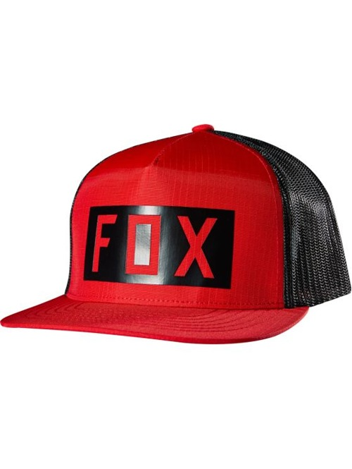 Kšiltovka Fox Boxed Out Snapback Hat red z kategorie Trucker kšiltovky.
