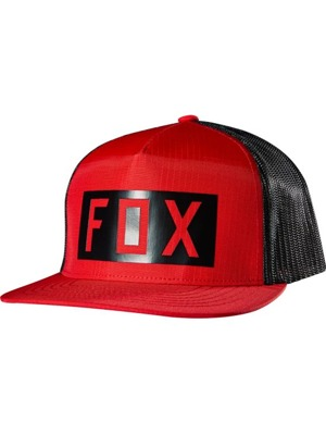 Kšiltovka Fox Boxed Out Snapback Hat red