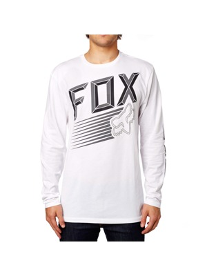 Pánské tričko Fox Efficiency Ls optic white