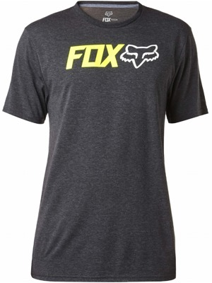 Pánské tričko Fox Obsessed Ss Tech Tee heather black