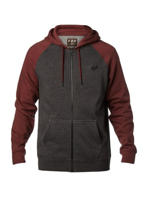 Pánská mikina Fox Legacy Zip charcoal heather