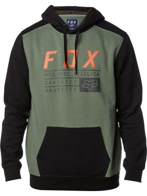 Pánská mikina Fox District 3 pullover dark fatigue