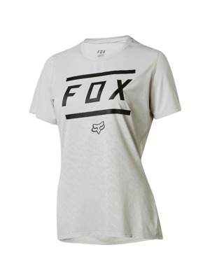 Dámský dres Fox Ripley S/S Jersey Bars Cool Grey