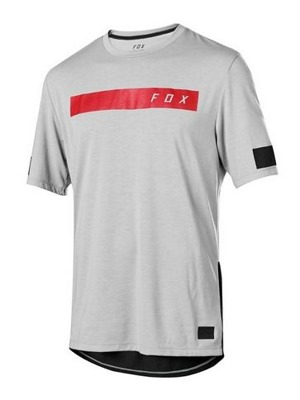 Cyklo dres Fox Ranger Drirelease S/S Bar Jersey Steel Grey