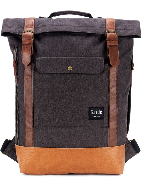 Batoh G.ride Balthazar black & camel 15l