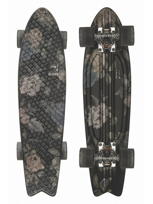 Mini longboard Globe Graphic Bantam St black roses 23""