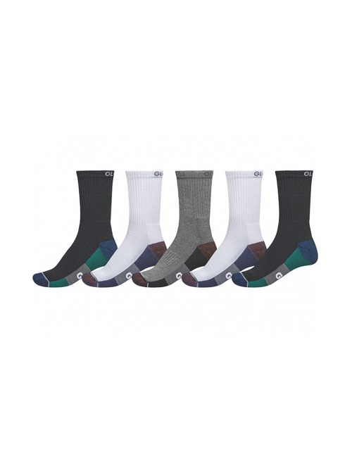 Ponožky Globe Evan crew 5 pack white/navy/black
