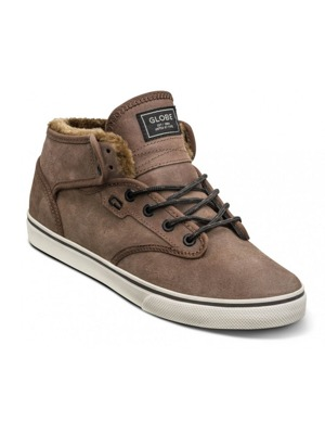 Boty Globe Motley Mid dark brown/off white/fur