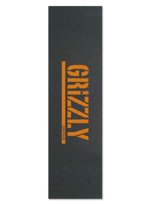 Grip Grizzly Stamp Print Griptape in Orange z kategorie Gripy na skateboard.