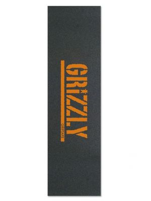 Grip Grizzly Stamp Print Griptape in Orange