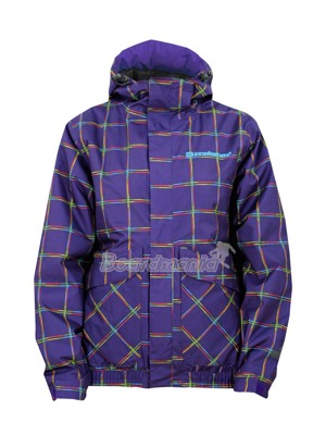 Dámská bunda Horsefeathers Taygeta jacket insulated violet check