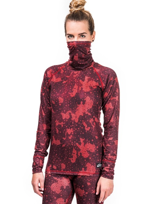 Termo triko Horsefeathers Mirra Neck L/S strawberry camo