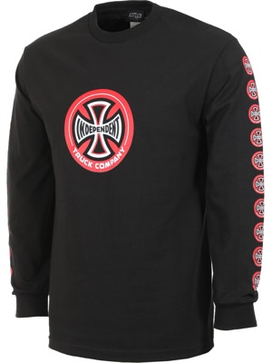Pánské tričko Independent Hollow cross L/S black