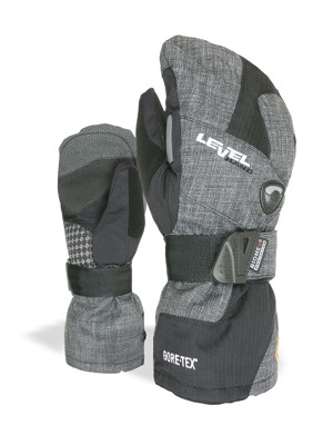 Rukavice Level Half Pipe Mitt Gore-Tex anthracite