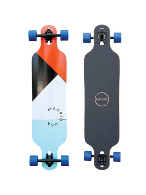 Longboard Madrid Trance Paper Cuts Drop-Thru 39""