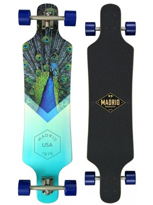 "Longboard Madrid Spade Top-mount 38"" peafowl"