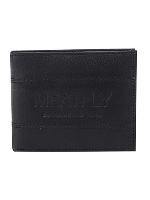 Peněženka MeatFly Hurricane Leather black leather