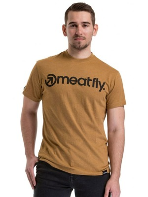Tričko Meatfly Logo heather mustard