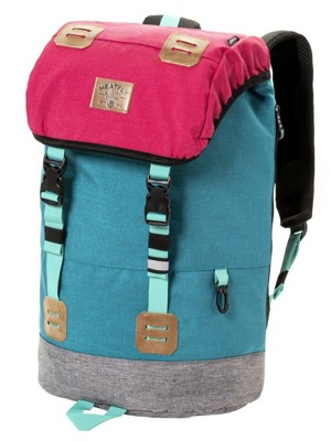 Batoh Meatfly Pioneer 3 ht. rose, ht. turquoise 26l