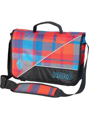 Taška  Evidence bag plaid red-blue