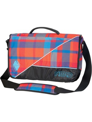 Taška Nitro Evidence xl bag plaid red-blue