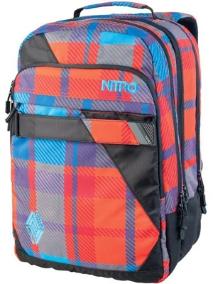 Batoh Nitro Lock plaid red-blue 37l