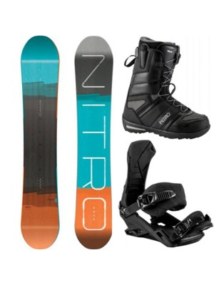 Snowboard komplet Nitro Team Wide Gullwing 17/18