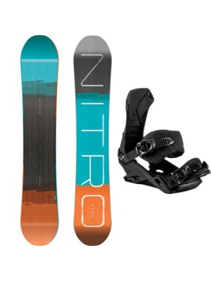 Snowboard set Nitro Team Gullwing 17/18