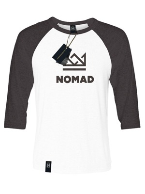 Tričko Nomad Crown raglan black/white
