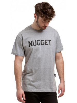 Tričko Nugget Logo heather grey