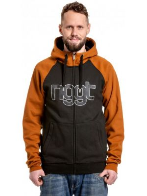 Mikina Nugget Rail Technical Hoodie brown sugar black