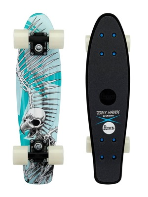 "Pennyboard Penny Tony Hawk 22"" hawk full skull"