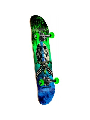 Skateboard Powell Peralta Skull and Sword Storm green/blue - 7.88 x 31.67
