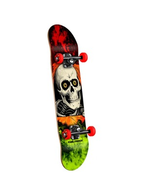 Skateboard Powell Peralta Ripper Storm Red/Lime - 8 x 32.125