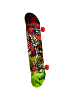 Skateboard Powell PeraltaCab Dragon Storm Red/Lime - 7.75 x 31.75