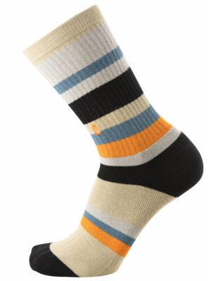 Ponožky Psockadelic Stripes Psocks grey black orange