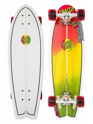 Cruiser Longboard Santa Cruz Land Shark Rasta 8,8""